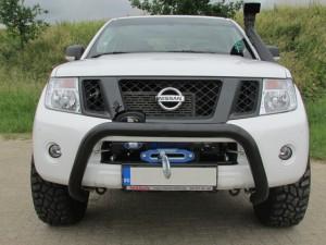 Nissan Navara pushbar bullbar rollbar lier superwinch hidden winch snorkel verhogen laadbak