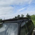 Zwart roofrack op landcruiser 80 serie HDJ80