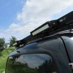 4x4 LED breedstraler op roofrack