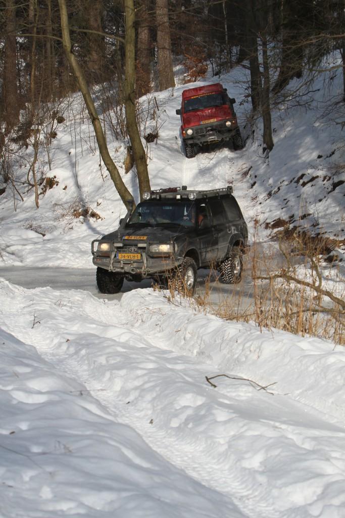 4x4 rijden in de sneeuw