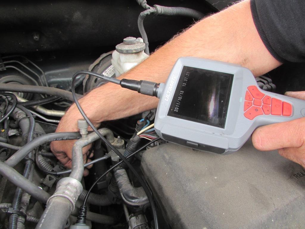 endoscoop onderzoek in motor