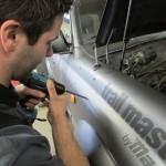 Montage TJM snorkel op Toyota Landcruiser 80